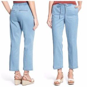 nydj // jamie light chambray drawstring jeans